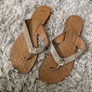 Tory Burch metallic sandals size 7